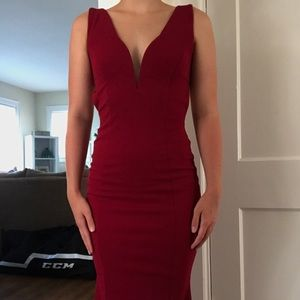 Prom Girl Maroon Prom Dress